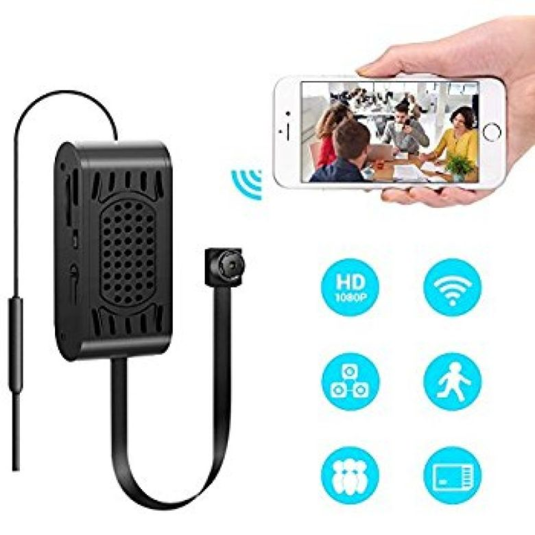 Amazon.com : 1080P WiFi Hidden Camera, SILLEYE Portable Spy Mini Wireless Small Security Camera With Motion Detection Alarm Remote Home Nanny Cam For iPhone/Android Phone/ iPad/PC : Camera & Photo