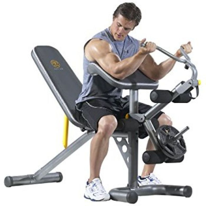 Amazon.com : Gold's Gym XRS 20 Olympic Bench : Weight Benches : Sports & Outdoors