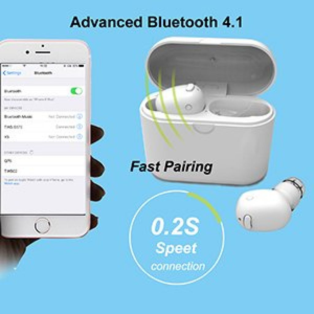 Amazon.com: True Wireless Earbuds,Bluetooth Mini in Ear Headphones Kelodo TWS Headset Built-in Mic Twins Hands-free Stereo Earphones with Charging Case for Android and iPhone White: Cell Phones & Accessories