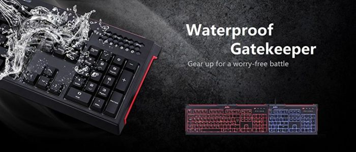 Amazon.com: Perixx PX-1900 Backlit Gaming Keyboard - Silent X Type Scissor Keys - 19 Keys Anti-Ghosting - IP 65 Water-Proof Protection: Computers & Accessories