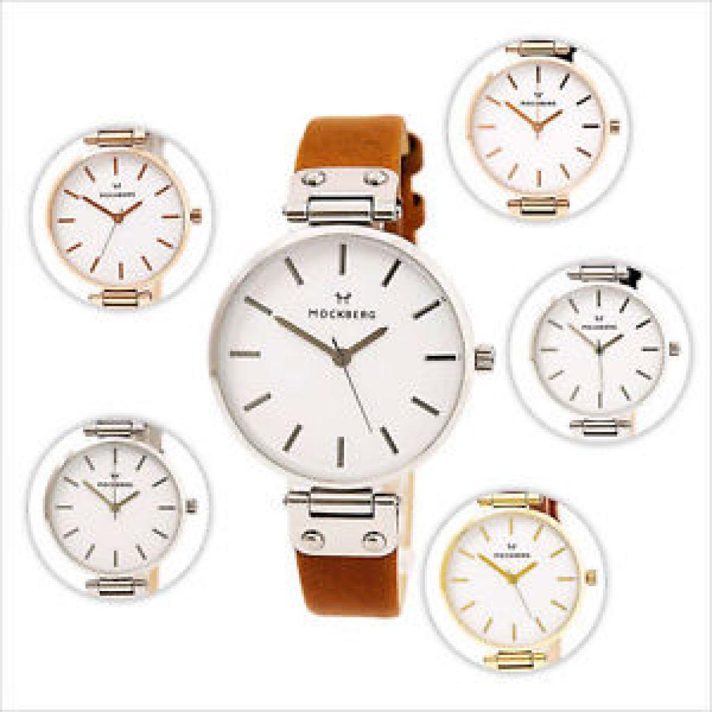 Mockberg Sigrid Women's White Dial Leather Strap Watch | eBay