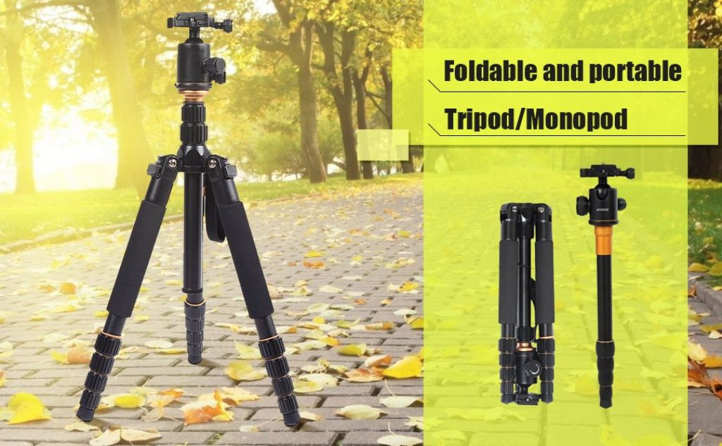 Amazon.com : Tripod, Andoer 153cm/ 60inch Camera Tripod Aluminum Alloy Monopod Unipod with 360 Degree Ball Head Quick Release Plate for Canon Sony Nikon camera : Camera & Photo