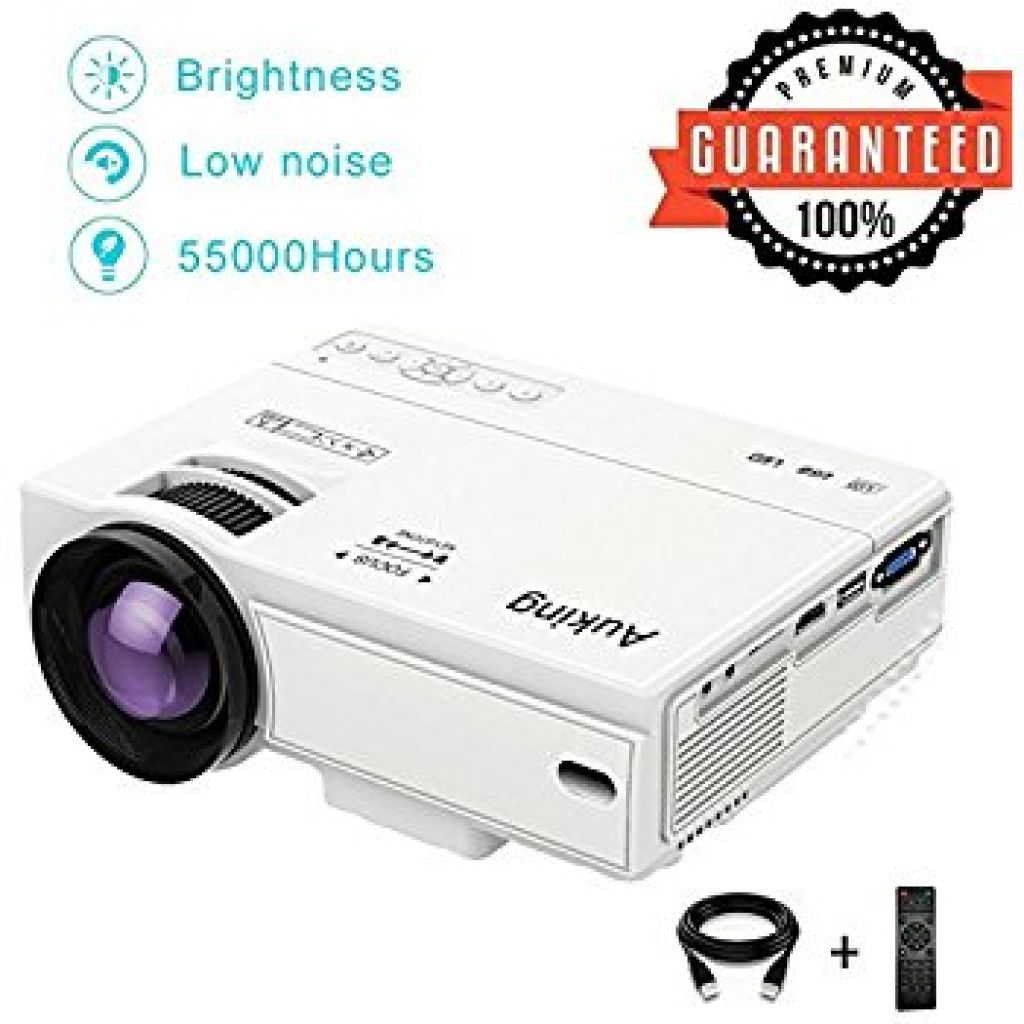 Amazon.com: AuKing Mini Projector 2200 Lumens Portable video-projector,55000 Hours Multimedia Home Theater movie Projector,Compatible with Amazon Fire TV Stick,Full HD 1080P HDMI,VGA,USB,AV,laptop,Smartphone: Electronics