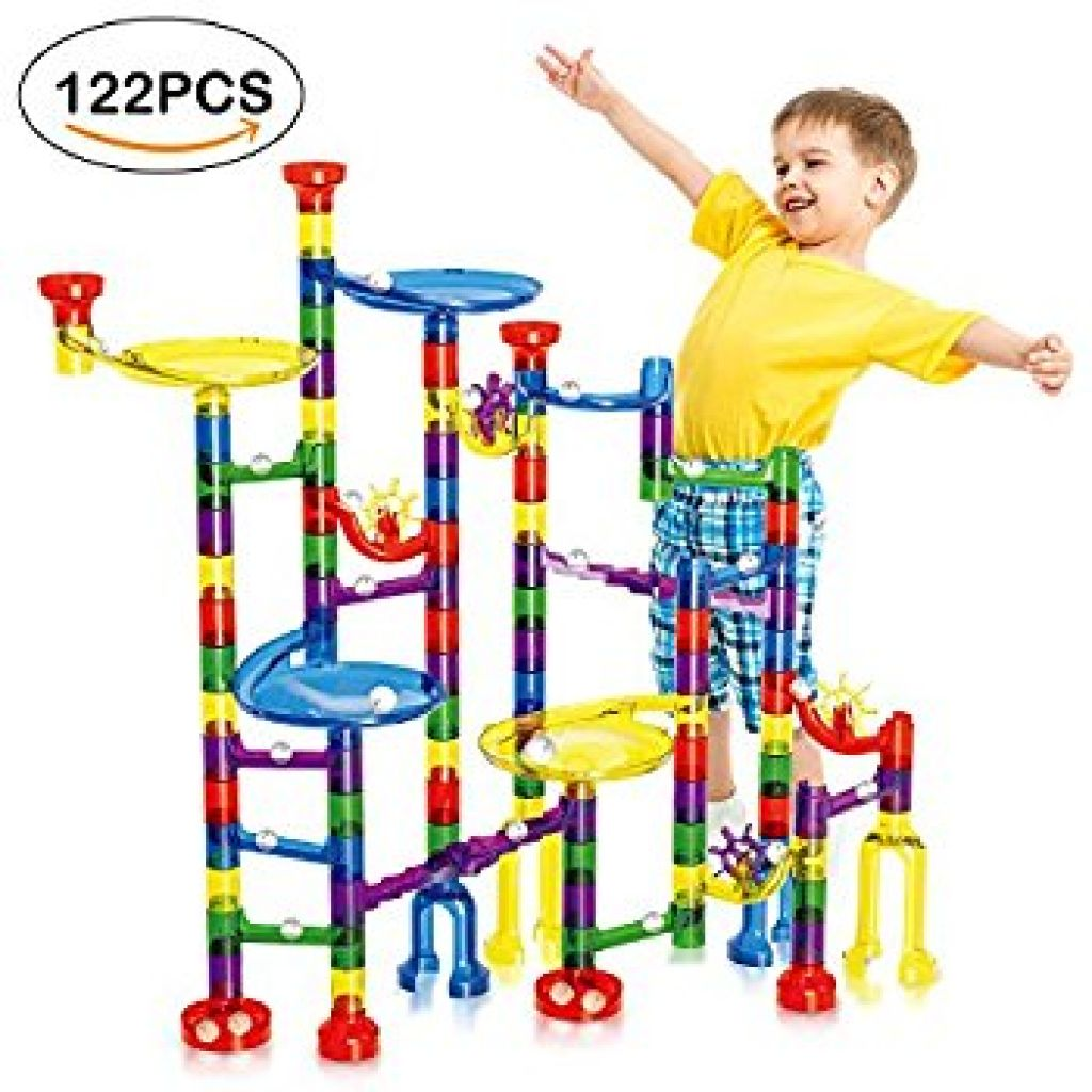 Amazon.com: Geekper 122Pcs Marble Run Super Set for Kids Marble Game Learning Educational Construction Building Blocks: Toys & Games