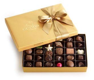 Buy Godiva Chocolatier Gold Ballotin Candy 36 Count Thank You Box (OU-D) For $21.40