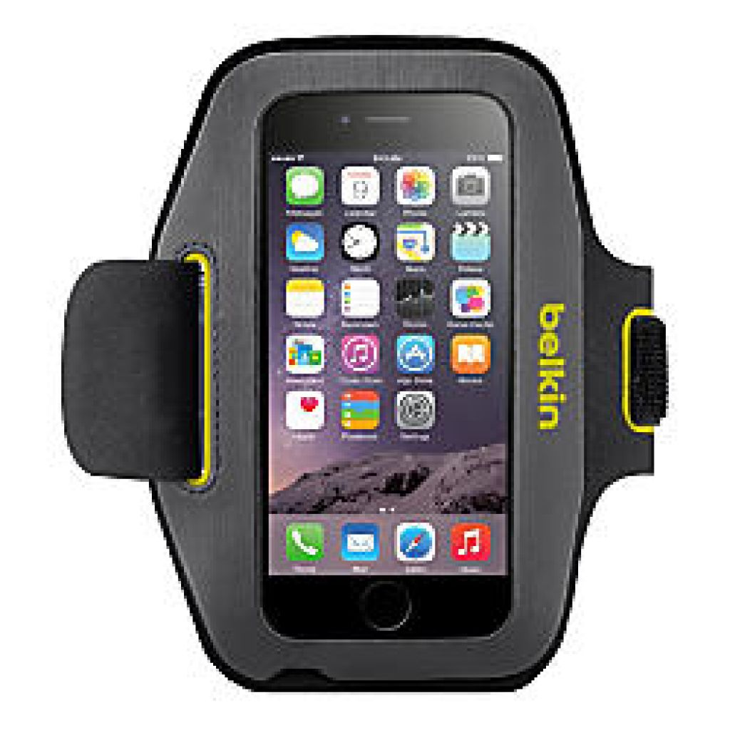 Belkin Sport Fit Armband for iPhone 6 BlacktopLimelight by Office Depot & OfficeMax