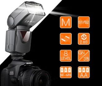 Buy Flash Professional Electronic Camera Flash for $17.99
