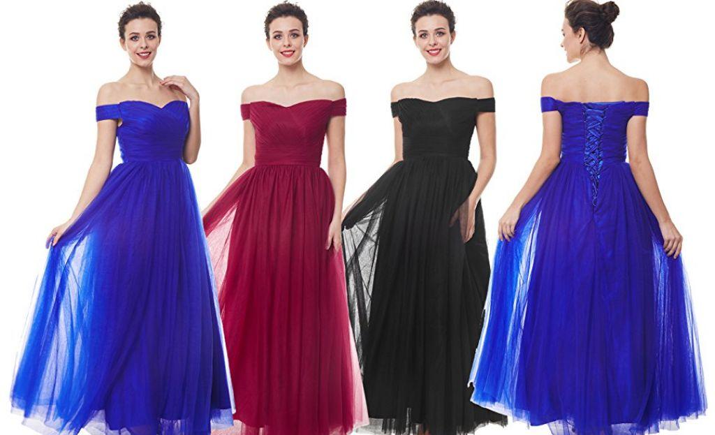 ZAFUL Women Sleeveless Chiffon Evening Dress Formal Wedding Gowns Bridesmaid Party Long Dress at Amazon Women's Clothing store: