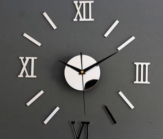 Buy Luxury Large Wall Clock Living Room DIY 3D Home Decoration Mirror Art for $2.51 – 2.62