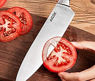 Buy Aicok 8″ Chef Knife w/ Stainless Steel Razor Blade for $6.95