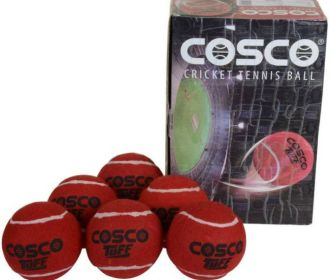 Buy Cosco Tuff Cricket Tennis Ball (Pack of 6, Red) for ₹349 (Was ₹420)