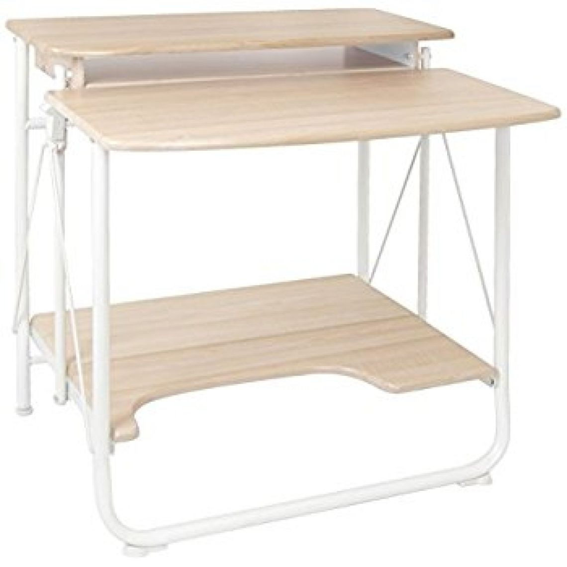 Amazon.com: Calico Designs 51236.0 Stow Away Folding Desk, White/Maple: Kitchen & Dining
