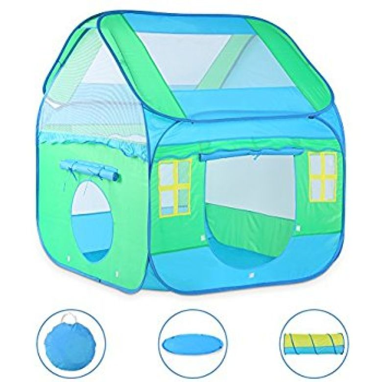 Amazon.com: Large Kids Play Tent, Vbestlife Children Pop-Up Playhouse Tent (3pc) includes Playhouse, Tunnel and Playmat, Indoor Outdoor, with Anchors and Carrying Case- Best Gift for Boys Girls: Sports & Outdoors