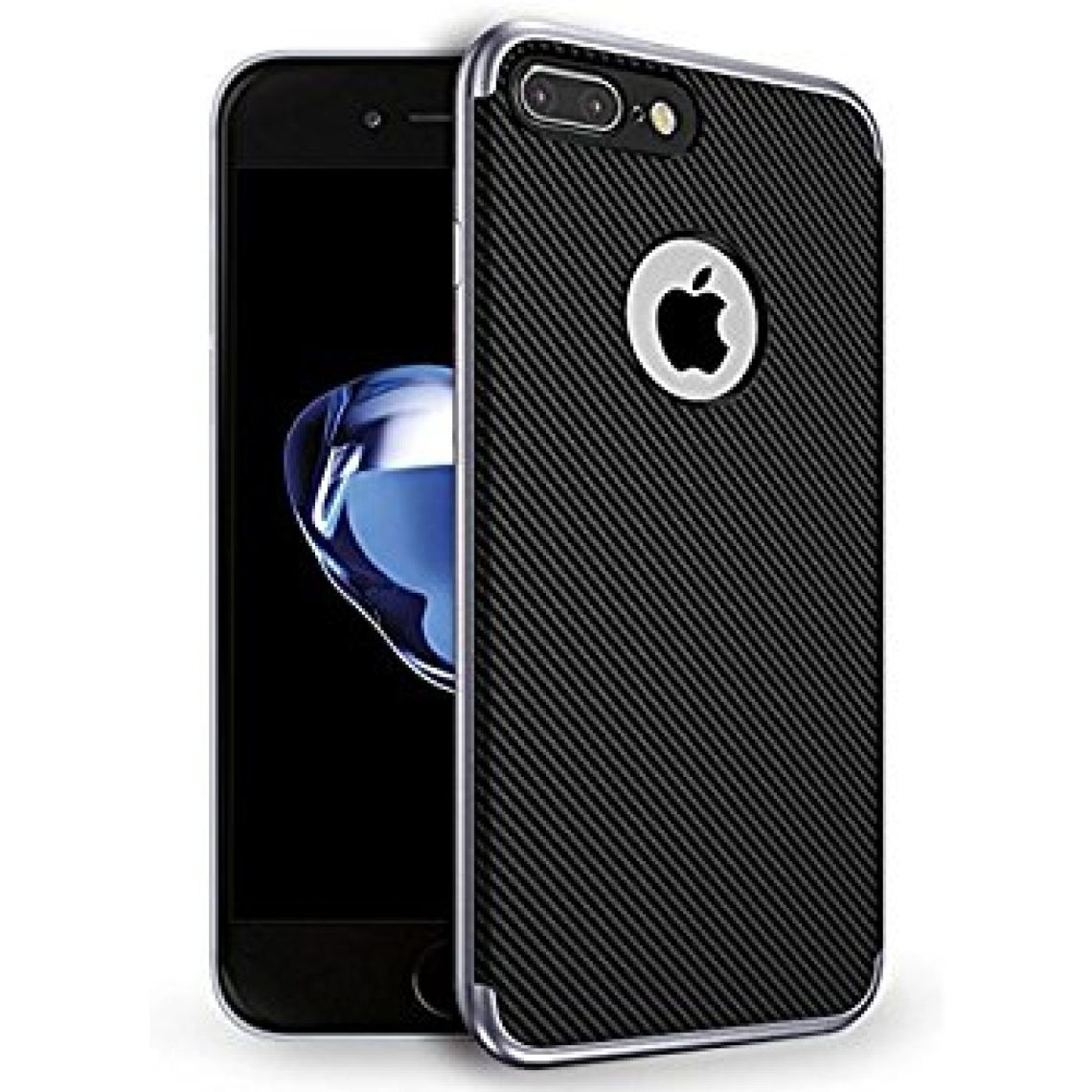 Amazon.com: iPhone 8 Plus Case, iPhone 7 Plus Case, AnsTOP [Slim Fit] Flexible Inner and Reinforced Hard Bumper Frame Protective Back Case for iPhone 8 Plus / iPhone 7 Plus - Gray: Cell Phones & Accessories