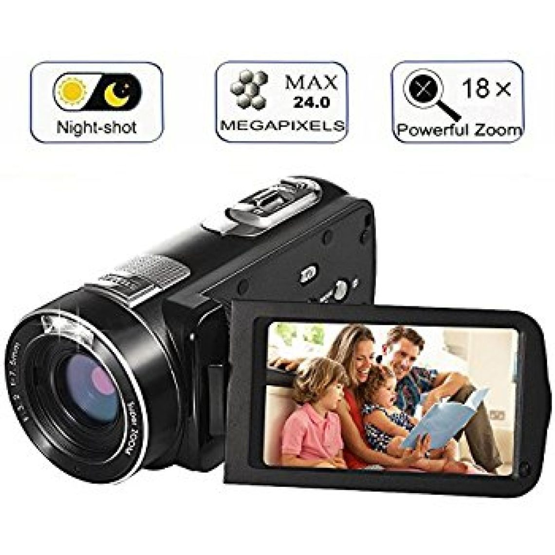 Amazon.com : Digital Camcorder, Besteker 720P HD Video Camcorder 16X Zoom 16MP Video Camera with 2.7 inches TFT LCD Screen Support 270 Degree Rotation : Camera & Photo