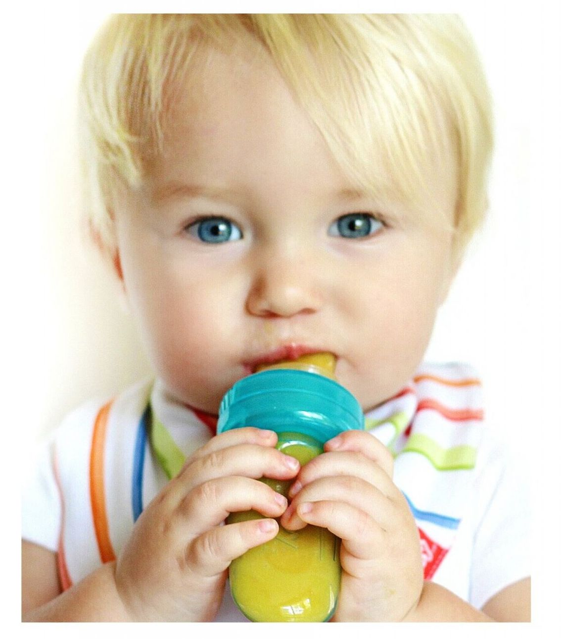 Amazon.com : Vbestlife Silicone Baby Food Squeezable Bottle, Include 2 kinds of nipples, 100% safe medical silicone, 4 + Months, 9 oz (250 ml)- Green : Baby