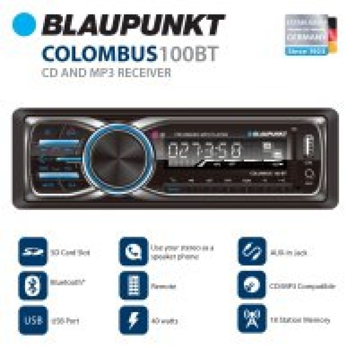 Blaupunkt MP3 and FM Stereo Receiver with Bluetooth (CLM100BT) - Walmart.com