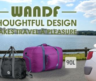 Buy Foldable Travel Duffel Bag Luggage for $11.89
