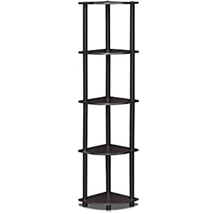 Amazon.com: Furinno 99811DWN Turn-N-Tube 5 Tier Corner Display Rack Multipurpose Shelving Unit: Home & Kitchen