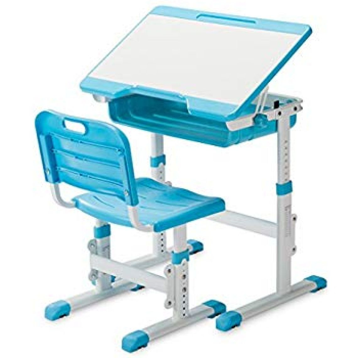 Amazon.com: SLYPNOS Ergonomic Adjustable Children's Desk and Comfortable Chair Set Specially Designed for Children Age 3-14, Blue: Kitchen & Dining