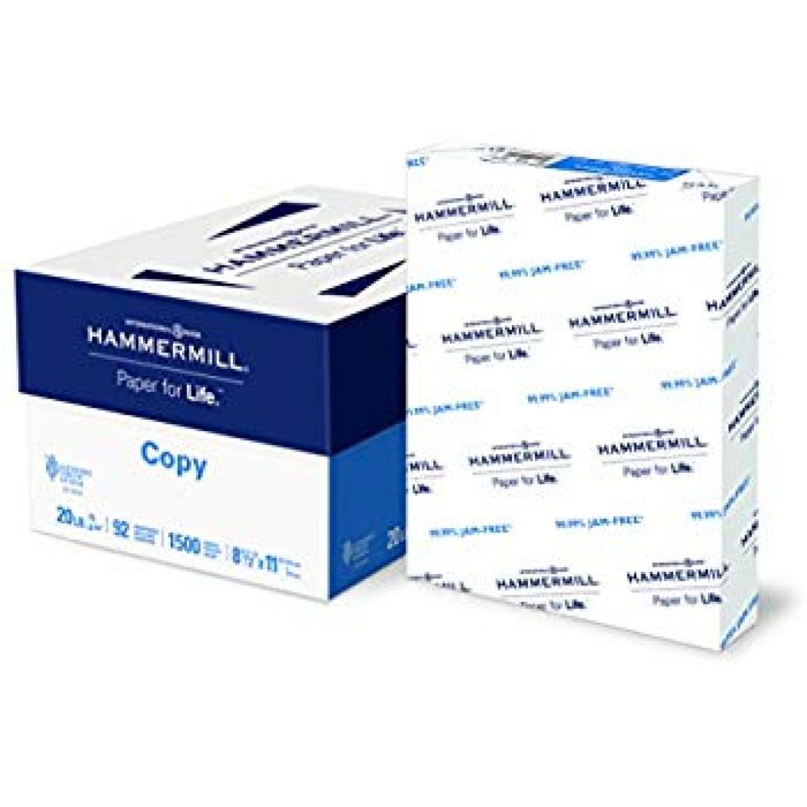 Amazon.com : Hammermill Paper, Copy Paper, 20lb, 8.5 x 11, Letter, 92 Bright, 1, 500 Sheets/3 Ream Case (113620C) Made In The USA : Office Products