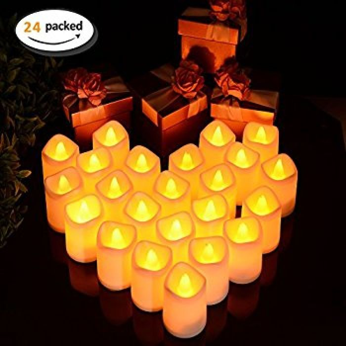 Amazon.com: Litake Flameless LED Tea Light Candles, Pack of 24, Battery Powered Flickering Fake Candles, Unscented Tealights, Realistic Tealight Candles in Warm White: Home Improvement