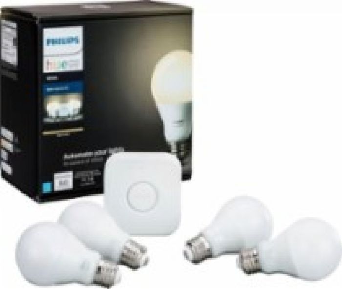 Philips Hue White A19 LED Starter Kit White 472001 - Best Buy