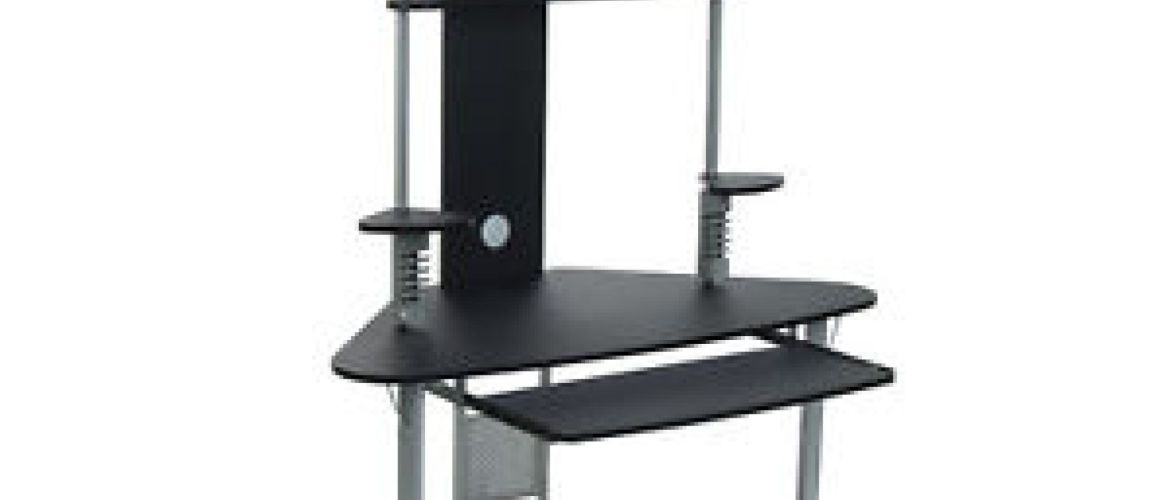 Buy Studio Designs Arch Tower Computer Desk, Silver & Black for $119