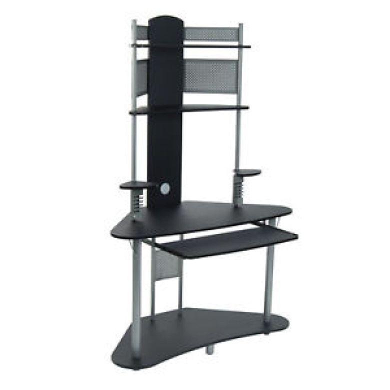 Studio Designs Home Office Furniture Arch Tower Computer Desk, Silver and Black 692624973688 | eBay