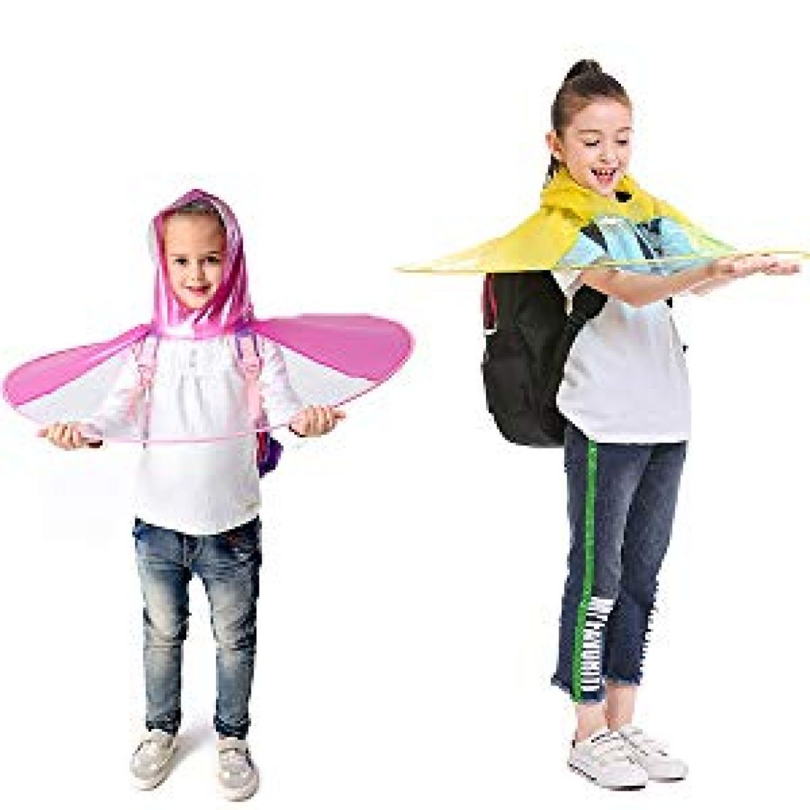 Amazon.com: Y-Nut UFO Raincoat, Large for Kids Adults, Saucer Poncho Head Umbrella Novelty Headwear Cap Hat Rainwear for Children: Clothing