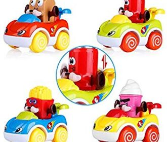 Buy Set of 4 Friction Powered Push and Go Cartoon Car Toys for $5.40 (Reg : $17.99)