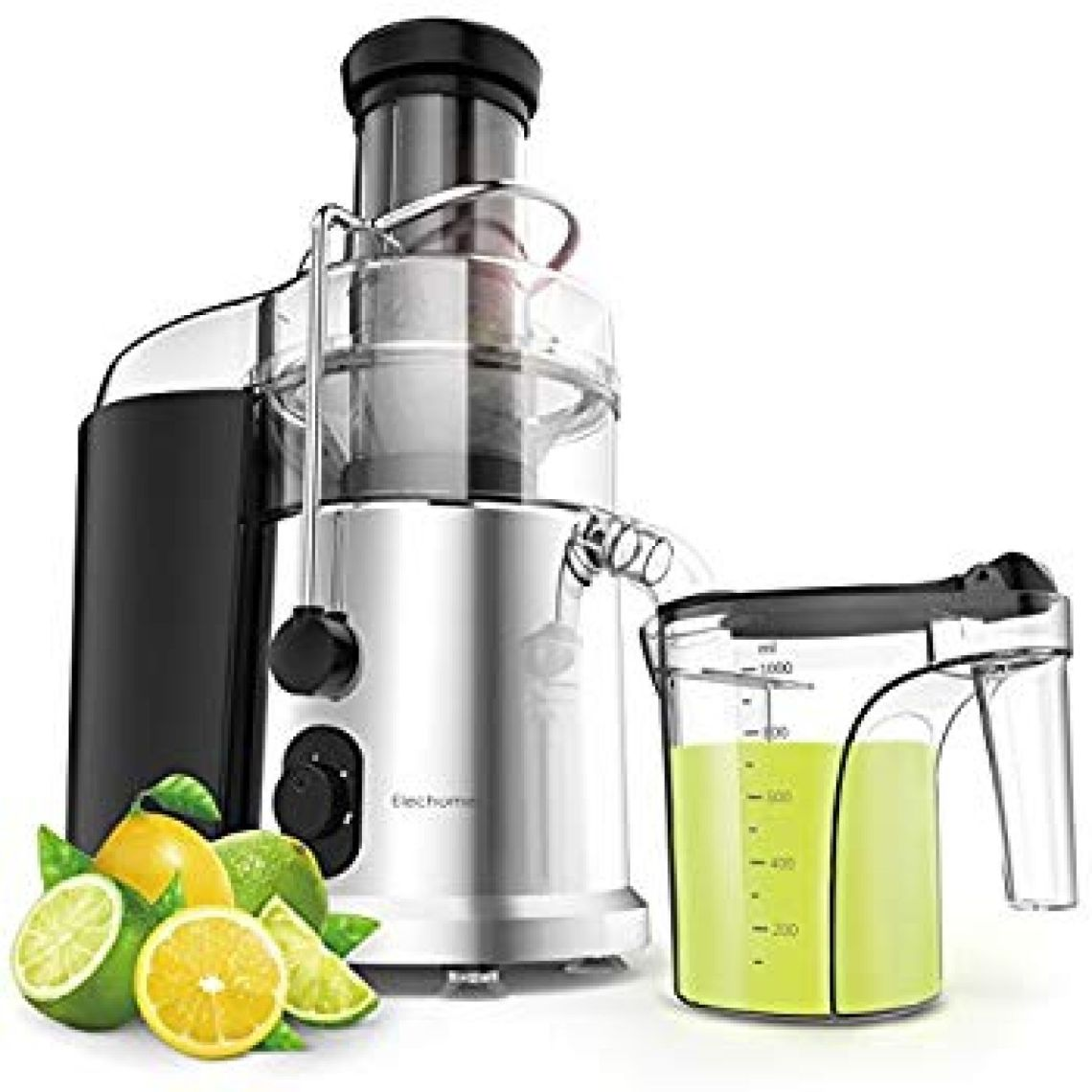 Amazon.com: 900W Wide Mouth Centrifugal Juicer - Elechomes 2 Speeds High Speed Juicer for Fruits and Vegetables with Premium Food Grade Titanium-Coated Cutter: Kitchen & Dining