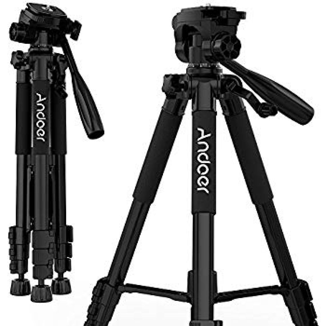 Amazon.com: Andoer Camera Tripod, Compact and Lightweight with Universal Tripod Smartphone Mount for Apple, iphone Samsung and Other Brands Smartphones+carrying bag: Camera & Photo