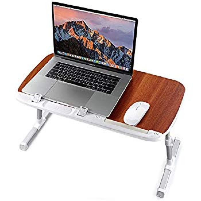 Amazon.com : TaoTronics Foldable Laptop Table Stand, Height Adjustable Laptop Desk for Bed Couch and Sofa, Portable Lap Desk, Bed Tray Table, Office Standing Desk Riser, Computer Desk, Drafting Table - Brown : Office Products
