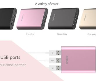 Buy 10000mAh Portable Power Bank with 3 USB Charging Ports for $4.80