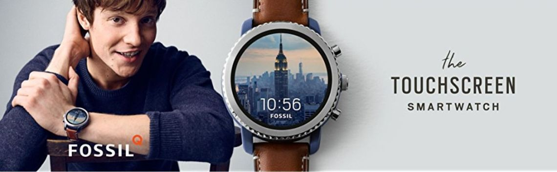Amazon.com: Fossil Q Men's Gen 3 Explorist Stainless Steel and Leather Smartwatch, Color: Blue, Brown (Model: FTW4004): Watches