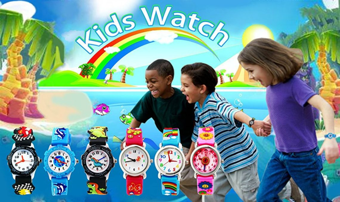 Amazon.com: Vinmori Kid's Watch, with 3D Cartoon Rainbow Silicone Band Waterproof Quartz Watch Gift for Children(Blue): Health & Personal Care