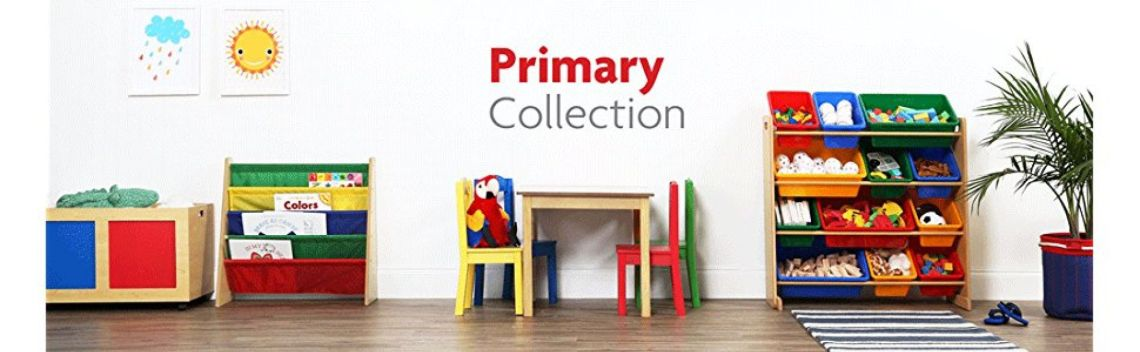 Amazon.com: Tot Tutors Kids Book Rack Storage Bookshelf, Natural/Primary (Primary Collection): Kitchen & Dining