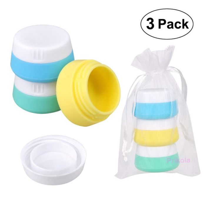 Amazon.com: Travel Bottles Silicone Containers Set, Vbestlife Leak Proof Travel Accessories, Refillable Squeezable and Easy to carry Set of 4: Health & Personal Care