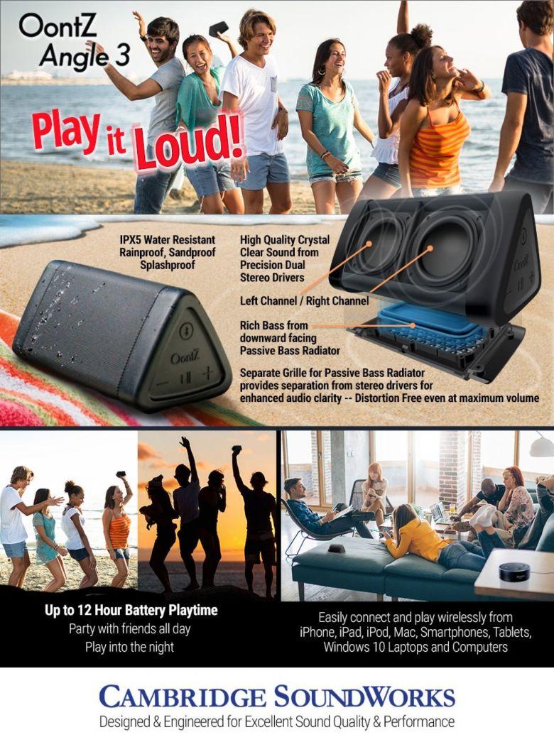 Amazon.com: OontZ Angle 3 New Enhanced Edition Portable Bluetooth Speaker with 100ft Wireless Range, Volume Booster AMP 10 Watts Power, Custom Bass Radiator, Crystal Clear Stereo Sound, IPX5 Splashproof: Home Audio & Theater