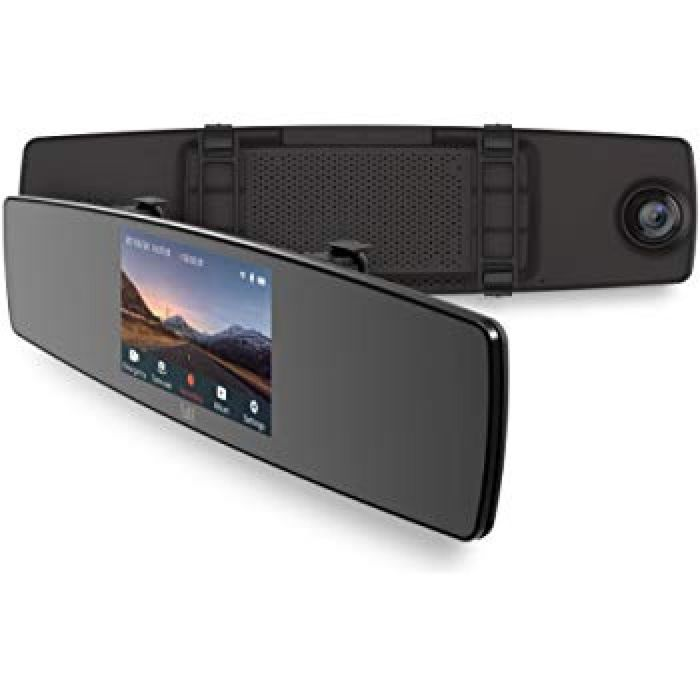 Amazon.com: YI Mirror Dash Cam, Dual Dashboard Camera Recorder Touch Screen, Mobile APP, Front Rear View HD Camera, G Sensor, Reverse Monitor, Loop Recording: Car Electronics