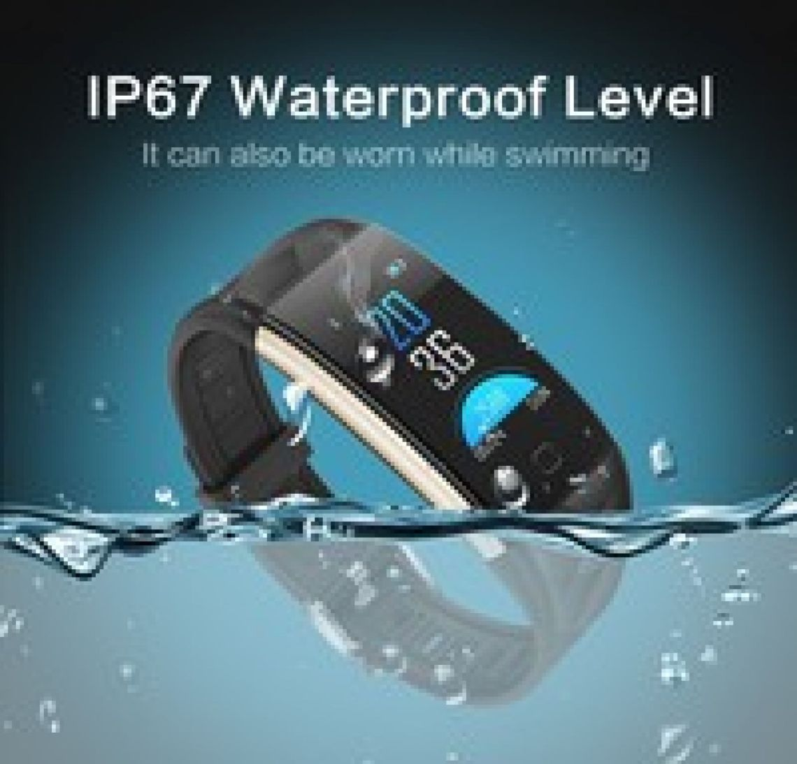 Wish | T20 Waterproof Colorful Screen Smart Watch Smart Sport Bracelet Fitness Tracker Heart Rate Blood Pressure Monitoring Sleeping Monitor Call Message Reminder Remote Camera