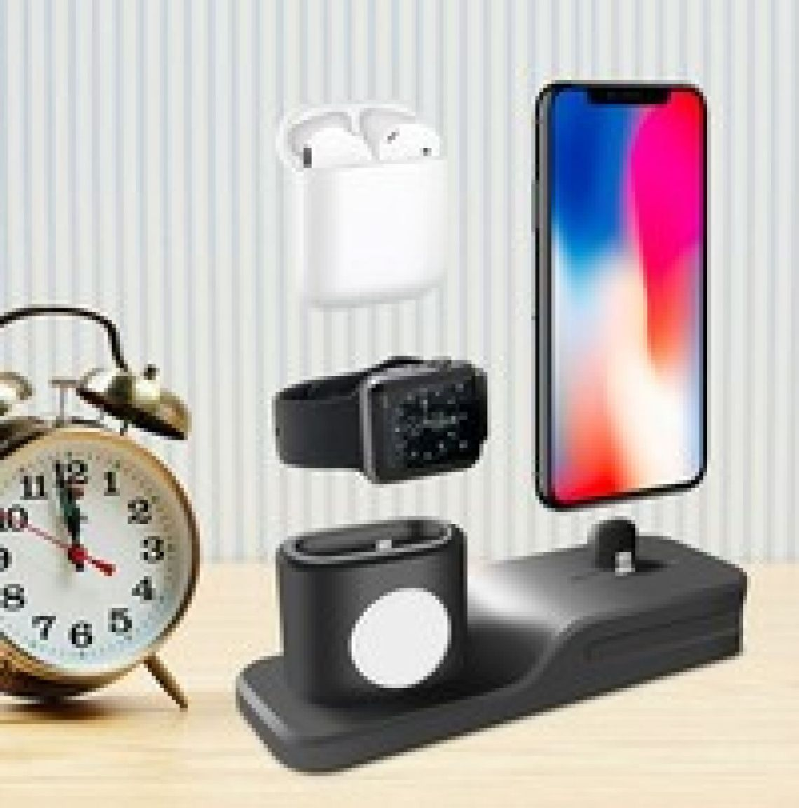 Environmental Silicone 4-in-1 for IPhone, AirPods, Apple pencil watch Portable Charging Base