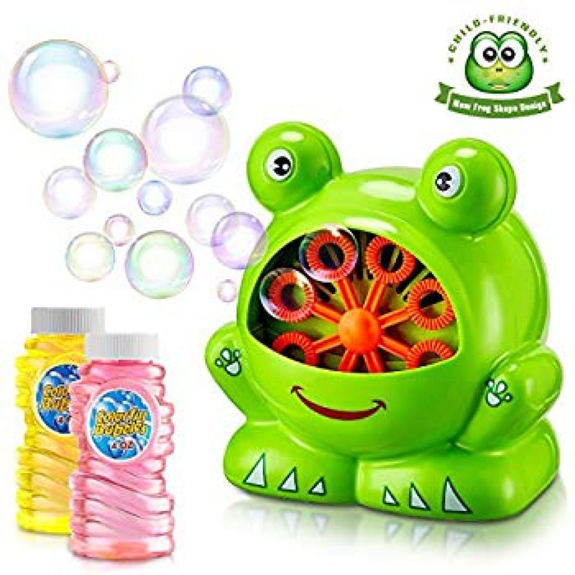 Amazon.com: TOSCiDO Bubble Machine Automatic Bubble Maker Durable Portable Bubble Blower for Kid, Over 500 Colorful Bubbles Per Minute, Including Bubble Solution Easy to Use for Picnic, Parties, Wedding: Toys & Games