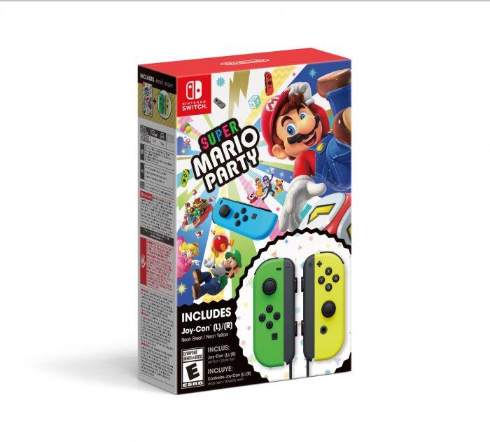 Nintendo Switch, Super Mario Party + Joy-Con (L/R) Green / Yellow, HACRADFJA - Walmart.com