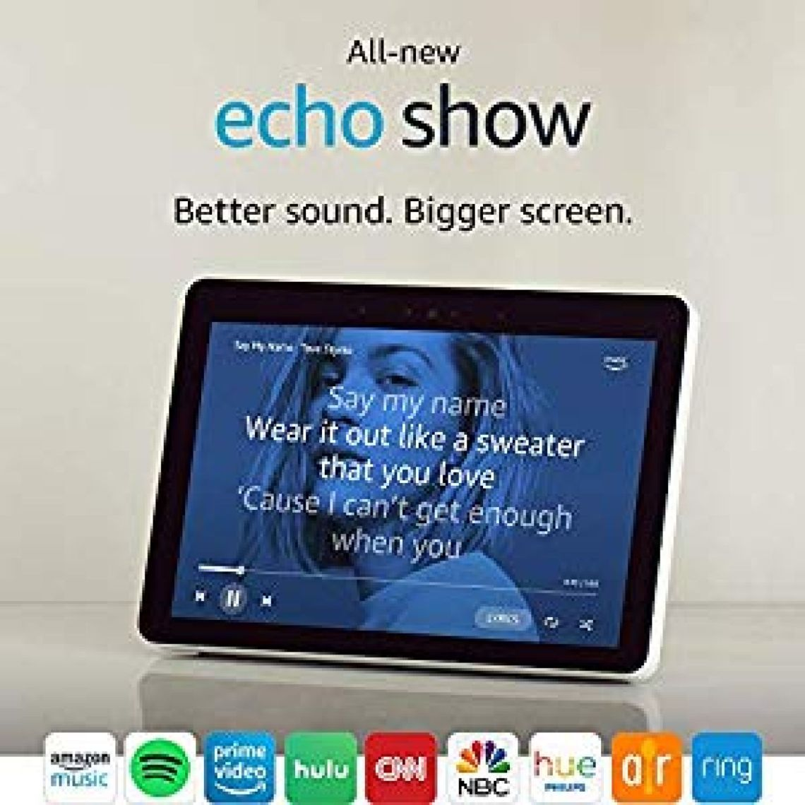 "Amazon.com: All-new Echo Show (2nd Gen) – Premium sound and a vibrant 10.1"" HD screen - Sandstone: Amazon Devices"