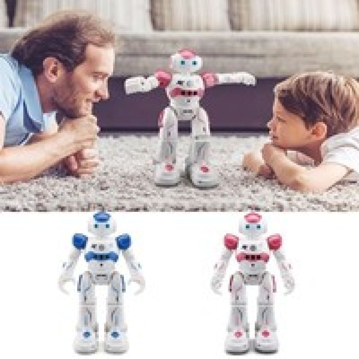 wish | Popular RC Smart Robot Toys Dancing Singing Walking Toy Gesture Senses for Entertainment Children's Gifts
