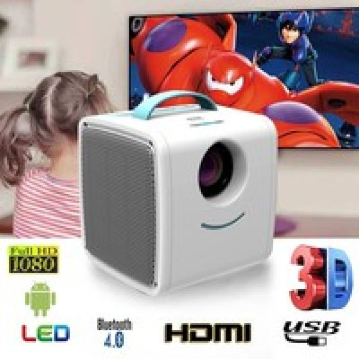 wish | Excelvan Q2 70 Lumens Mini Projector Multimedia Home Theater LED LCD Projector Support 1080P TF card AV USB HDMI Devices