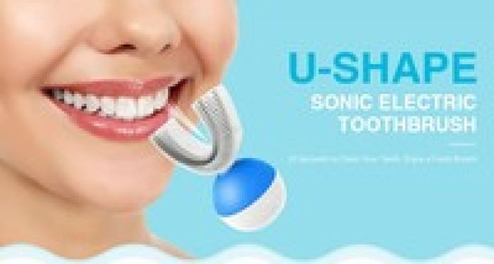 wish | U-Shape Automatic Electric Toothbrush 360º Ultrasonic Teeth Cleaner for Lazy People