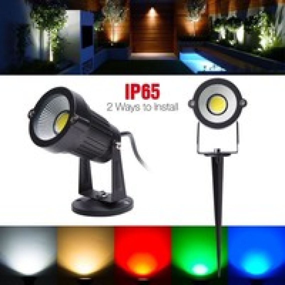 Wish | 3W LED Landscape Lights AC/85-265V Outdoor Spotlight Led Pathway Lights Landscape Light